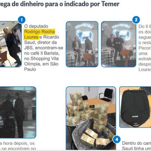 Flagrantes da corrupção: as imagens que provam a entrega de propina aos indicados de Temer e Aécio