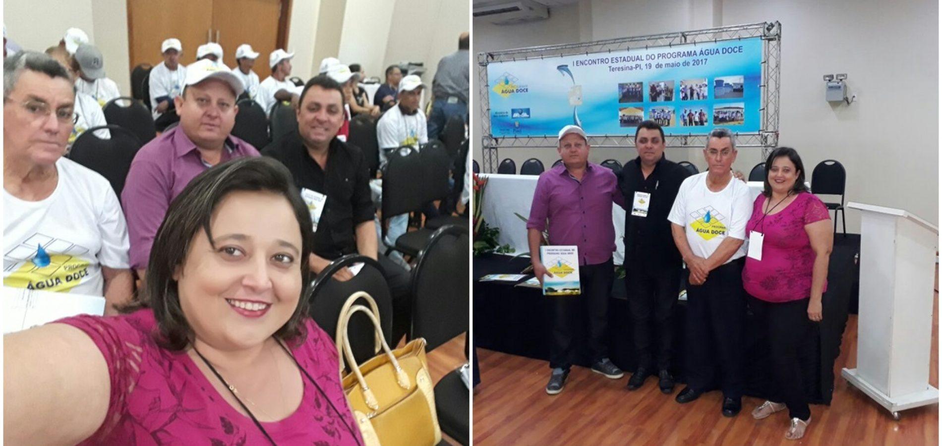 Em Teresina, representantes de Vila Nova participam de encontro estadual do Programa Água Doce