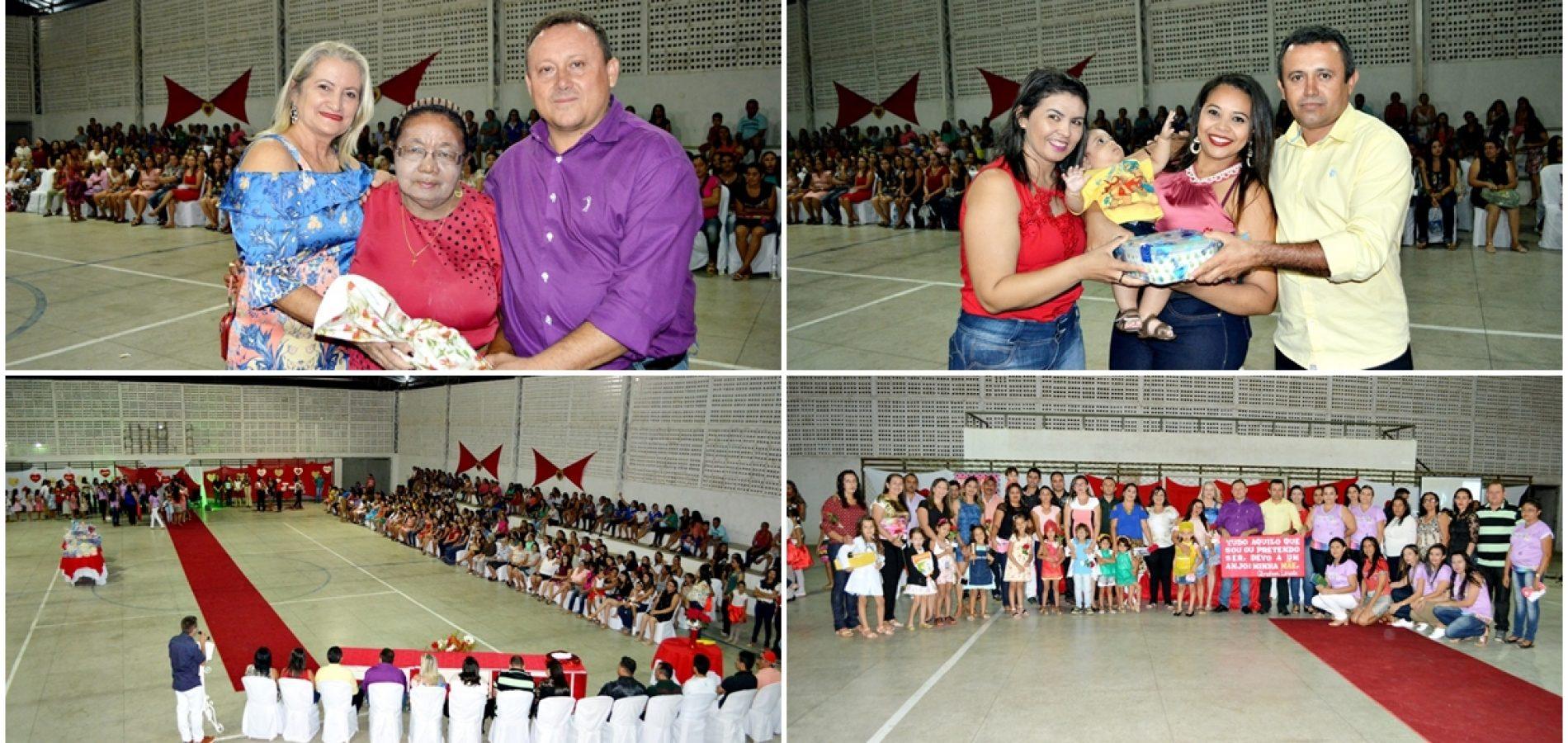 Prefeitura de Vila Nova realiza grande festa em homenagem às mães e abre a VI Semana do Bebê