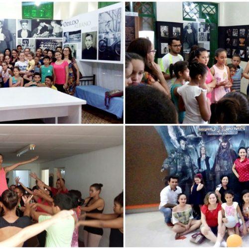 'Museu, Dança e Cinema direcionando a caminhada de crianças e adolescentes vilanovenses', diz secretária sobre a participação do AJA em atividades culturais em Picos