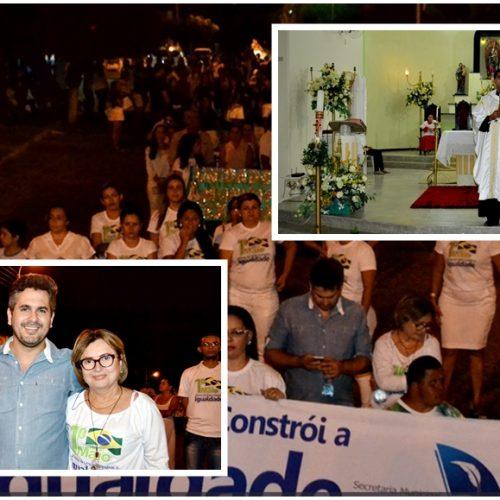 Educação e CRAS realizam caminhada do Dia do Trabalhador e abre festejos de N. Sra. de Fátima em Fronteiras