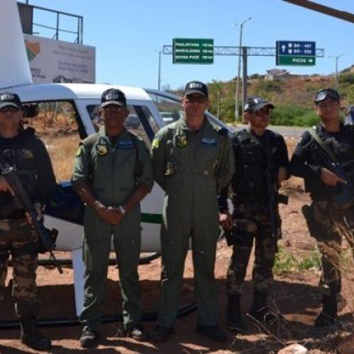 PM usa helicóptero para detectar pontos de venda de drogas em Picos