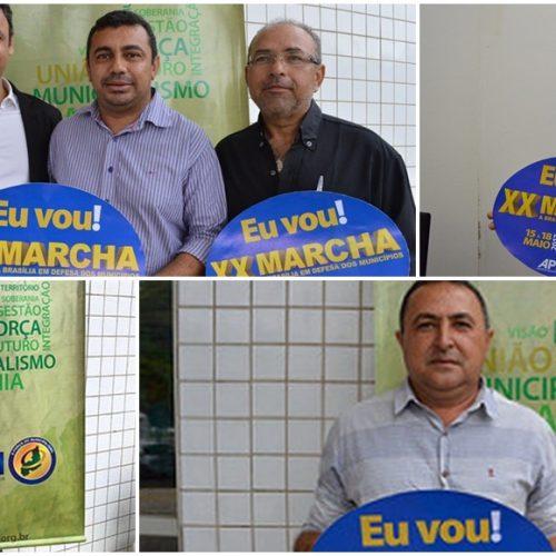 Prefeitos confirmam participação na XX Marcha