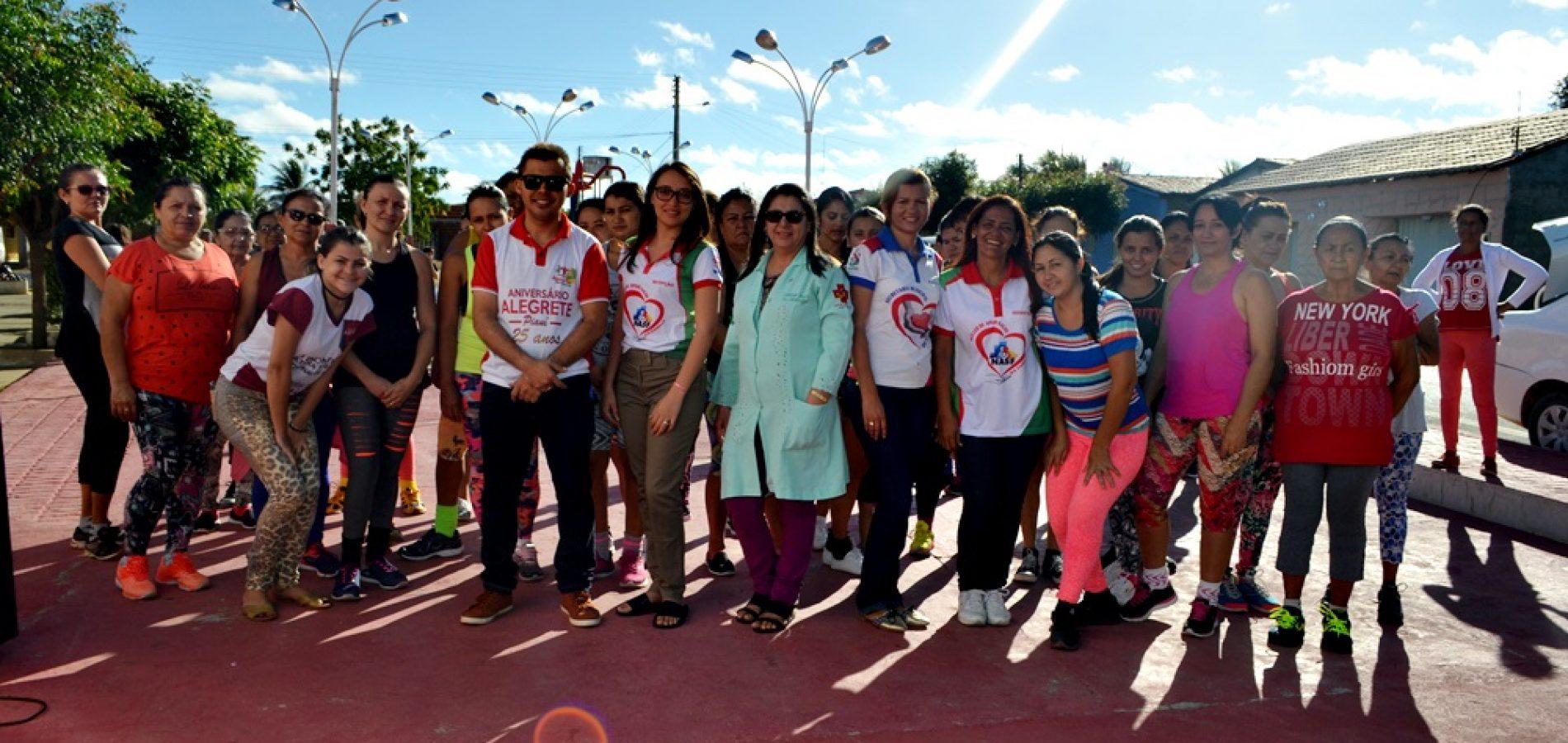 Cultura e Saúde promovem 'Momento Saúde' para participantes do Zumba em Alegrete do Piauí