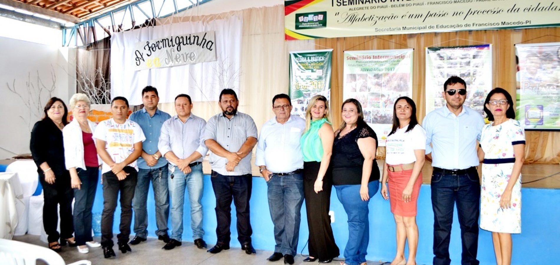 FOTOS | Seminário Intermunicipal de Alfabetização em Francisco Macedo