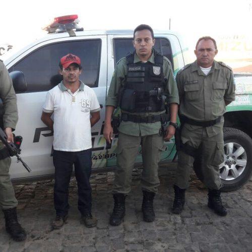 Acusado de latrocínio em Picos é preso pela PM em Jaicós