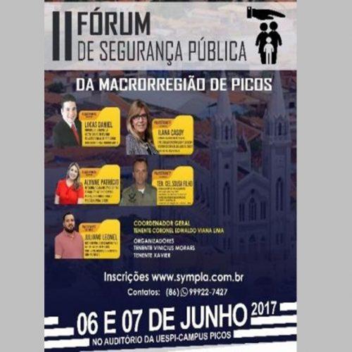 Fórum debaterá segurança pública na macrorregião de Picos