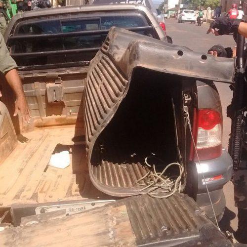 Polícia Militar apreende 85 kg de maconha em fundo falso de carro