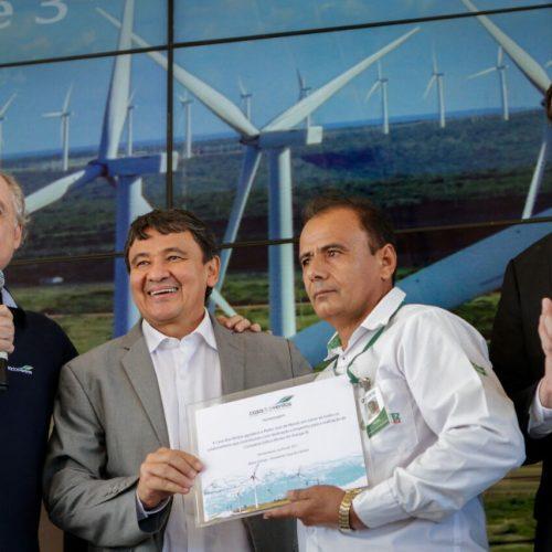 Governador Wellington Dias participa de inauguração do Complexo Eólico Araripe III