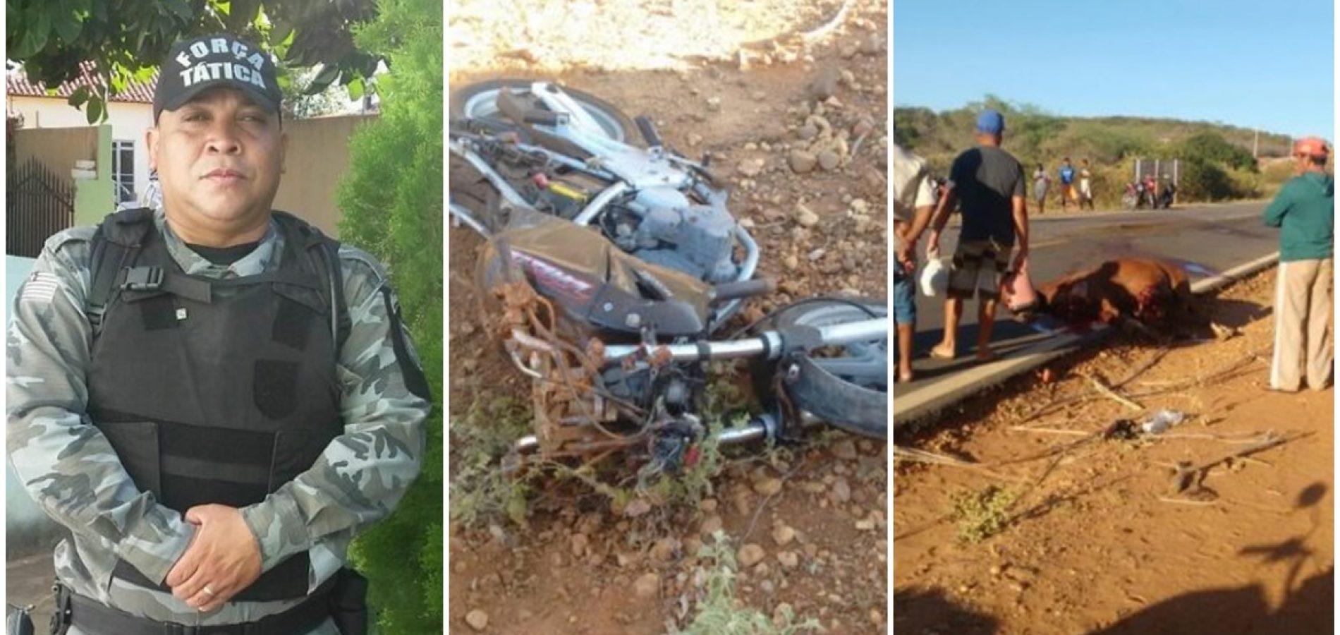 Policial Militar morre em grave acidente de moto no interior do Piauí
