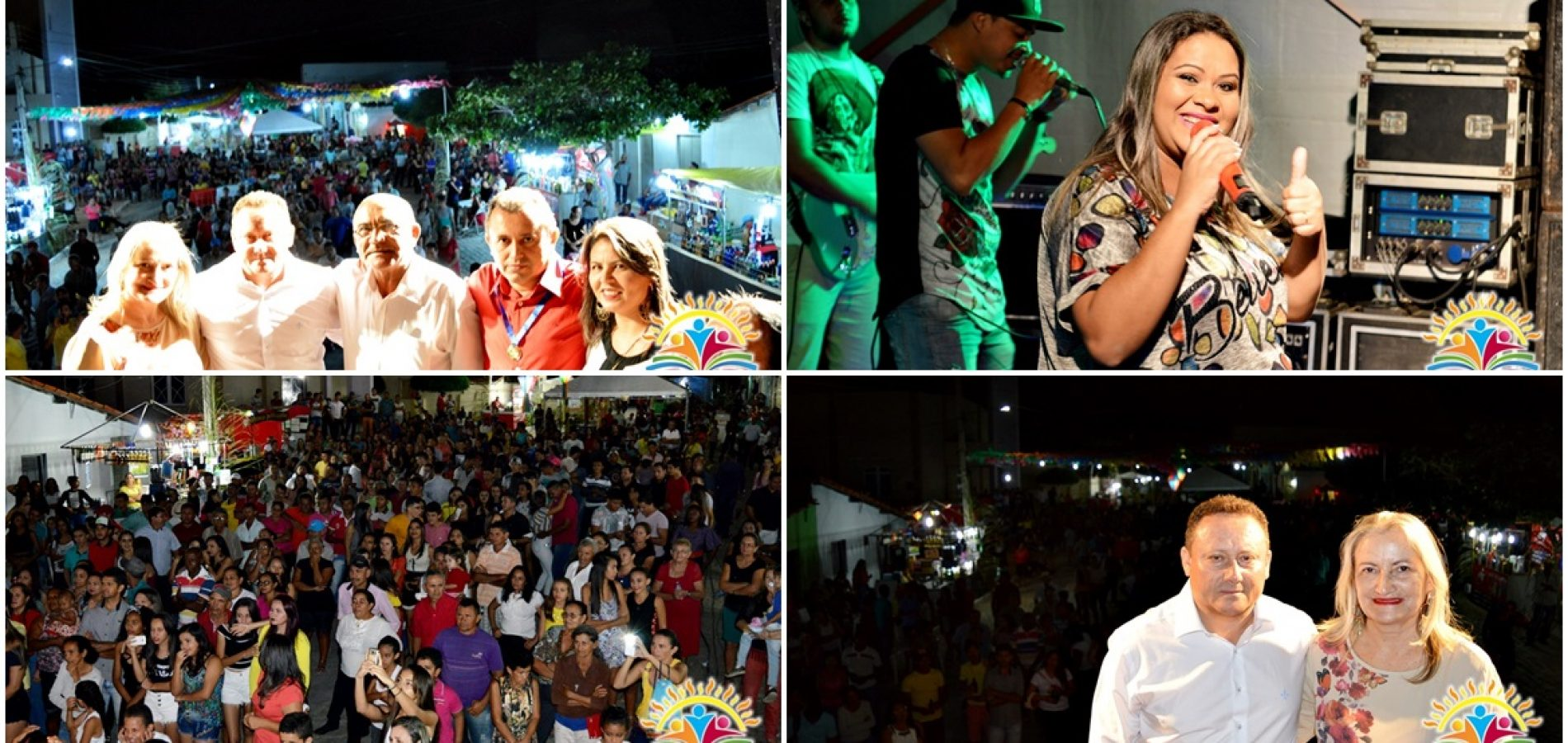 Prefeitura promove show com Fafá Santana nos Festejos de Vila Nova; veja fotos