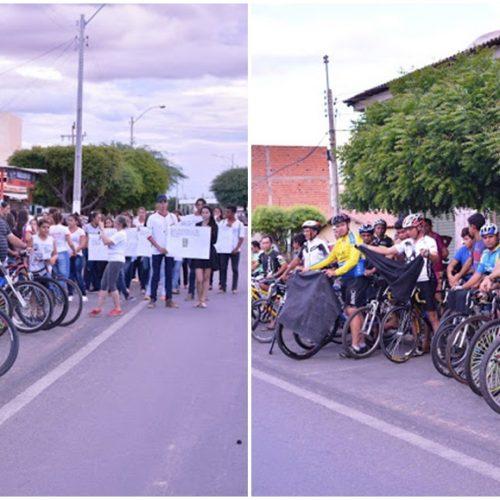 Ciclistas homenageiam jovem fronteirense morto em trágico acidente de ônibus na BR-135