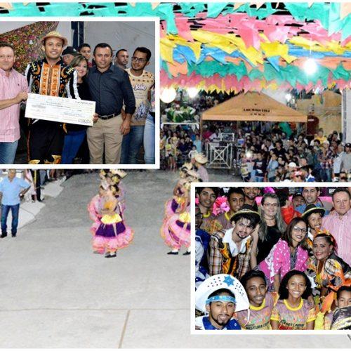 Festival de Quadrilhas e shows movimentam segunda noite do Arraiá de São João Batista em Vila Nova; veja fotos