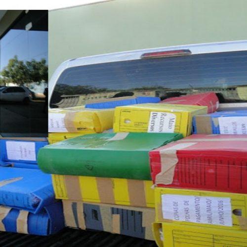 Ex-prefeito no Piauí é autuado e polícia encontra 65 caixas com documentos públicos em sua residência