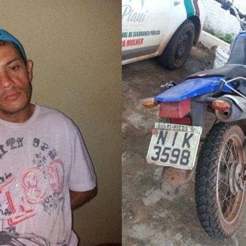 PICOS | Homem foge de delegacia após ser preso com moto furtada