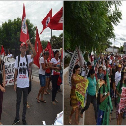 Greve Geral contra Reformas da Previdência e Trabalhista é realizada em Picos