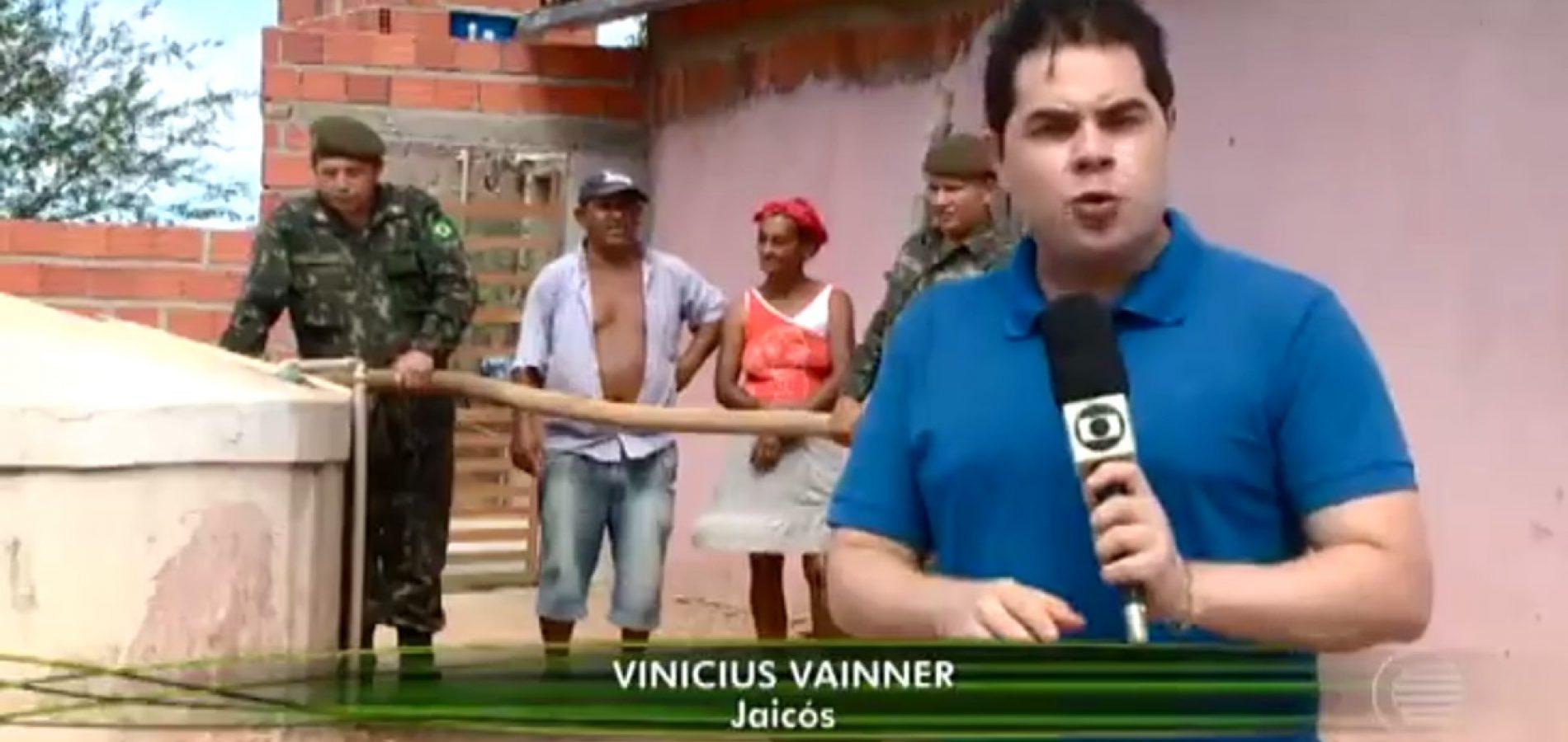 TV Globo mostra o drama da falta de água em Jaicós e Padre Marcos; famílias passando sede e represas secas