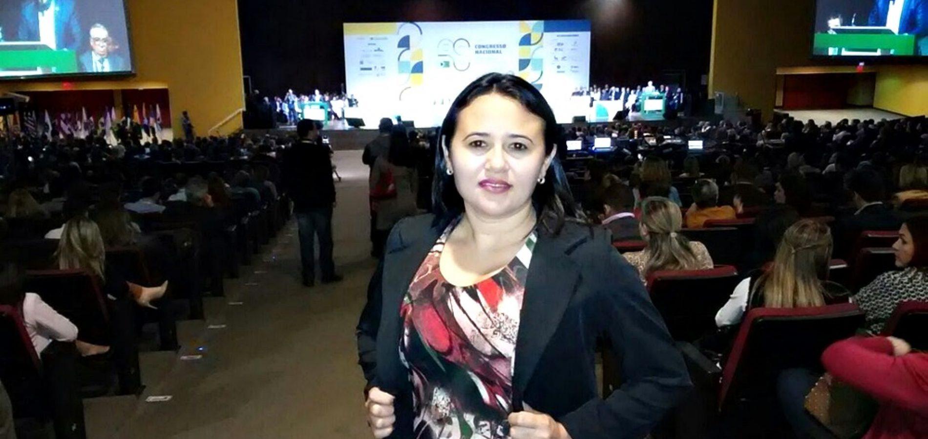 Vera Mendes participa do Congresso Nacional de Secretarias Municipais de Saúde em Brasília