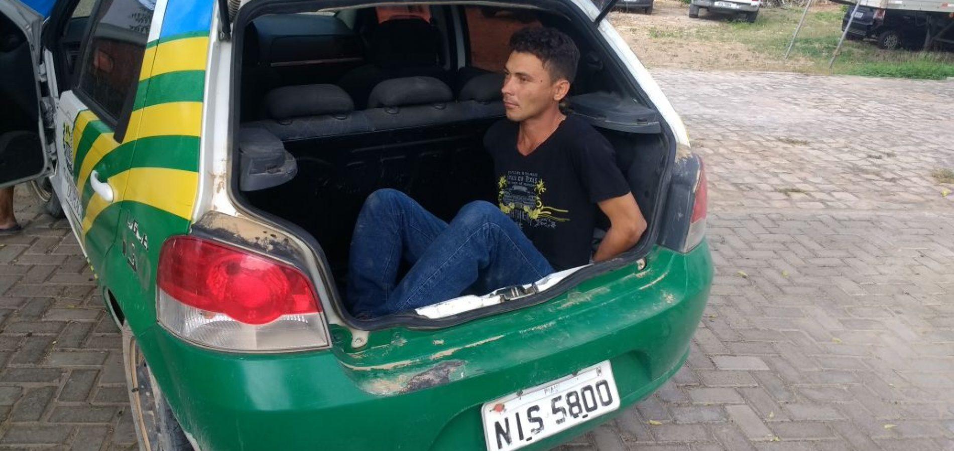 Polícia Militar prende homem armado na zona rural de Belém do Piauí
