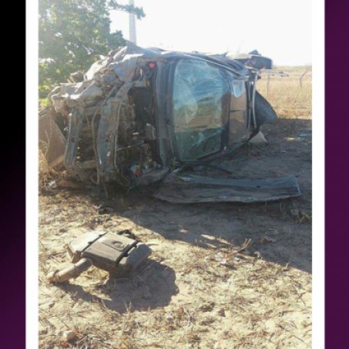 Homem perde controle do veículo e se acidenta as margens da BR 020