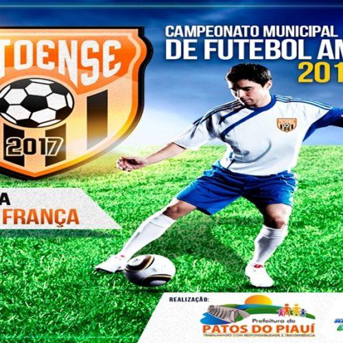 Com premiação de R$ 4,3 mil, Campeonato Municipal de Futebol Amador de Patos do Piauí tem início amanhã (22)