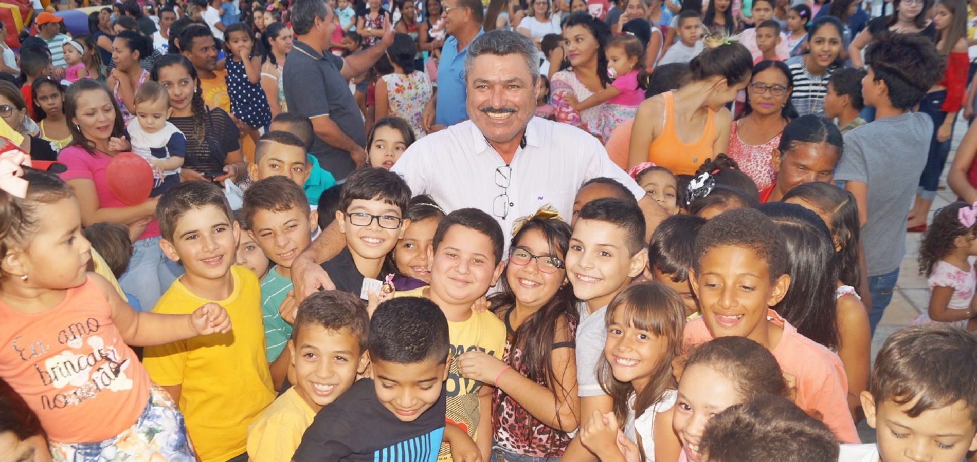 Prefeitura de Simões promove evento para crianças no aniversário de 63 anos de emancipação