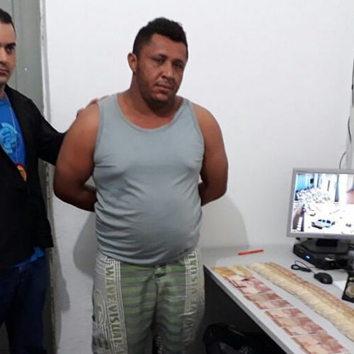 Homem preso em Campo Grande do PI com 1.780 reais e 19 papelotes de cocaína é autuado em flagrante por tráfico