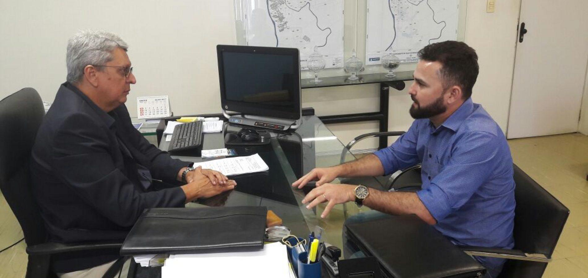 Em Teresina, prefeito GD solicita ampliação da rede de abastecimento de água em Jacobina