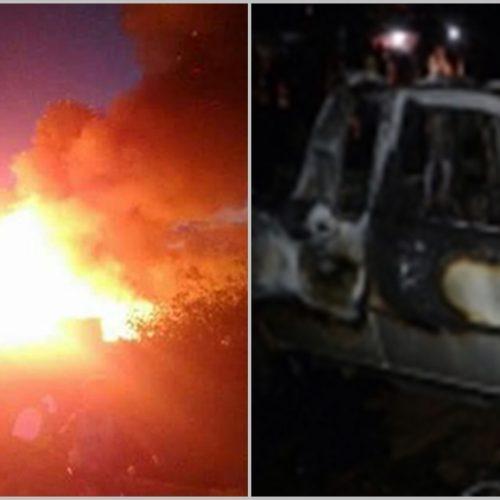 Incêndio destrói barracas, veículos e assusta moradores no interior do Piauí