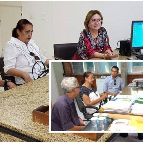 Prefeita e secretária de Educação de Fronteiras buscam investimentos para o município em Teresina