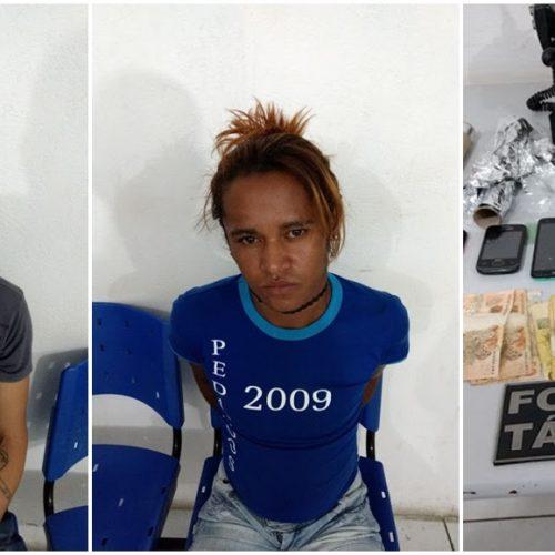 Policia Militar fecha Boca de Fumo e efetua prisão de dois traficantes em Fronteiras