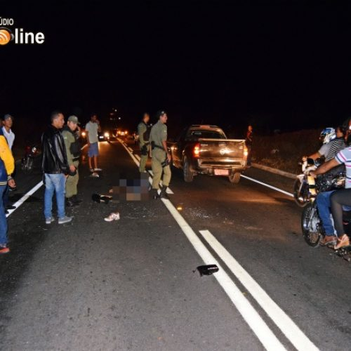 Jovem morre e dois ficam feridos após grave acidente na BR-407 em Paulistana