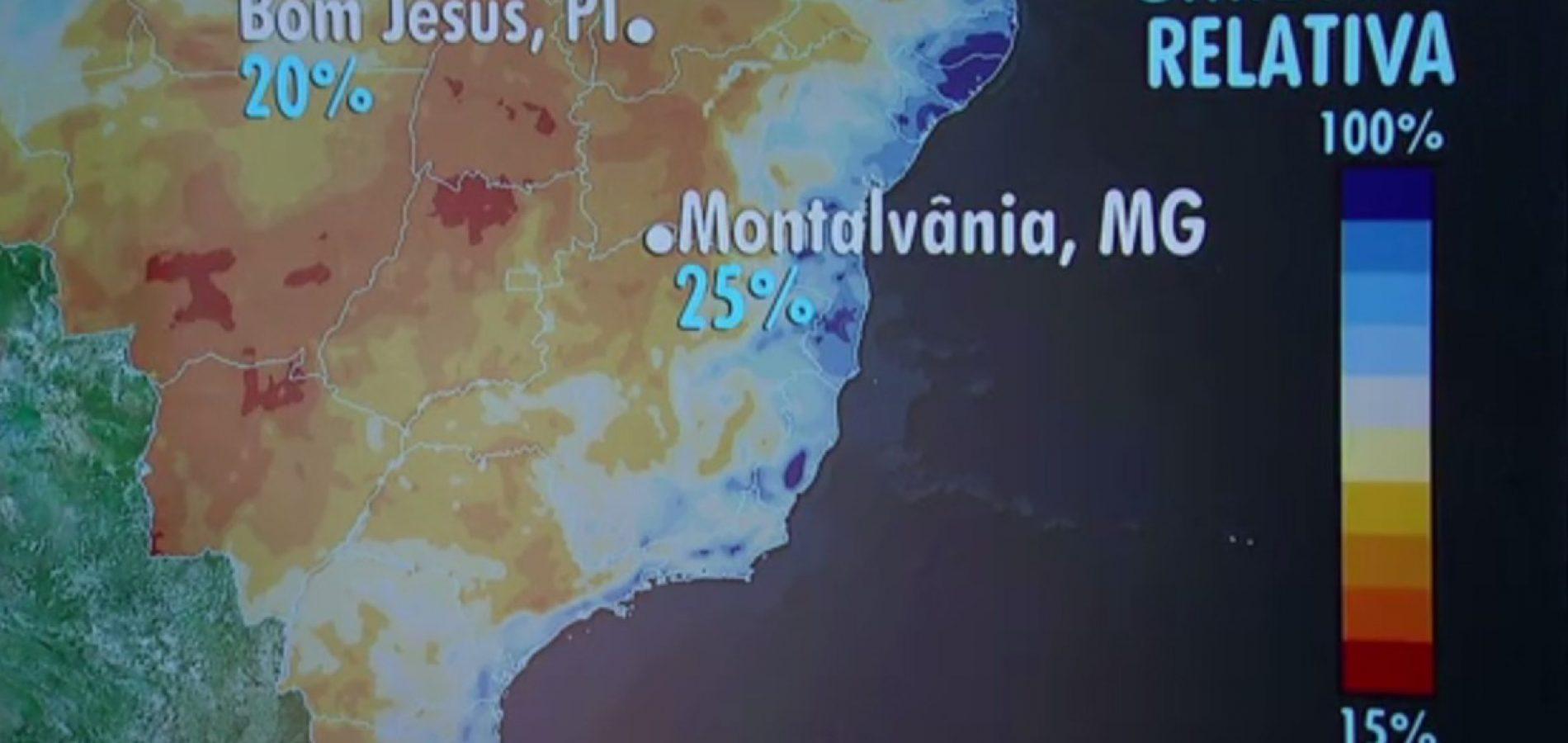 Sul do Piauí registra umidade mais baixa do País