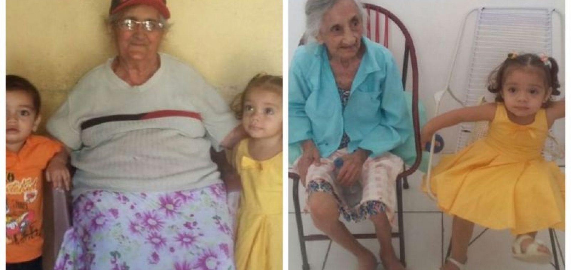 Gêmeos de São Julião conhecem tetravó em Vila Nova do PI e somam cinco gerações