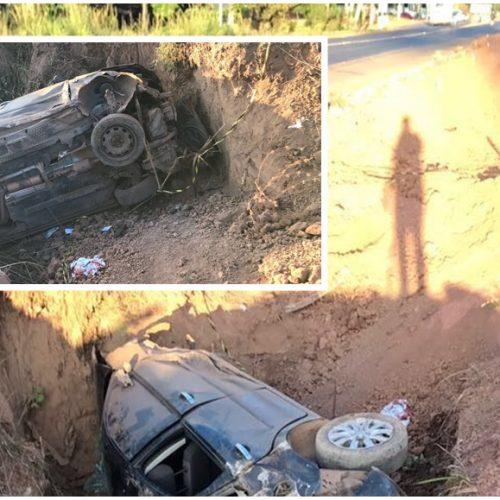 Veículo cai em vala e deixa 3 feridos no Piauí