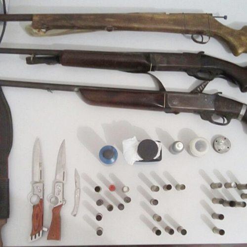 Polícia cumpre mandado e apreende armas e munição no interior de Patos do Piauí