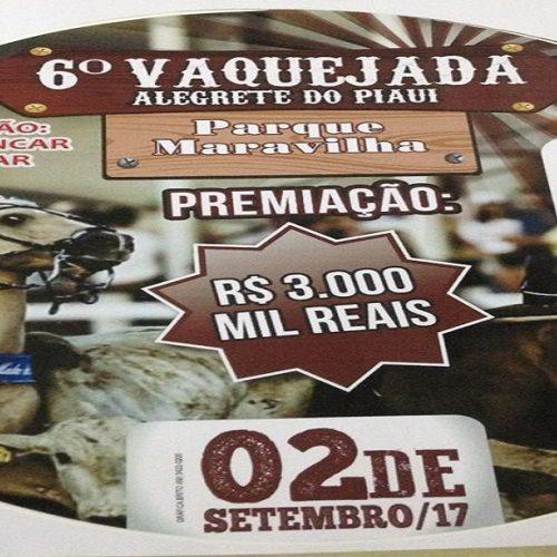 ALEGRETE   Fazenda Maravilha realizará Bolão de Vaquejada no dia 02/09 com premiação de R$ 3 mil reais