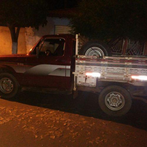 Batalhão recupera caminhonete roubada em cidade do Piauí