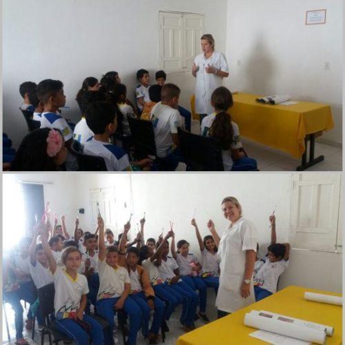 Secretaria de saúde de Francisco Macedo promove palestra sobre 'saúde bucal' para alunos da escola Joaquim Antão de Carvalho