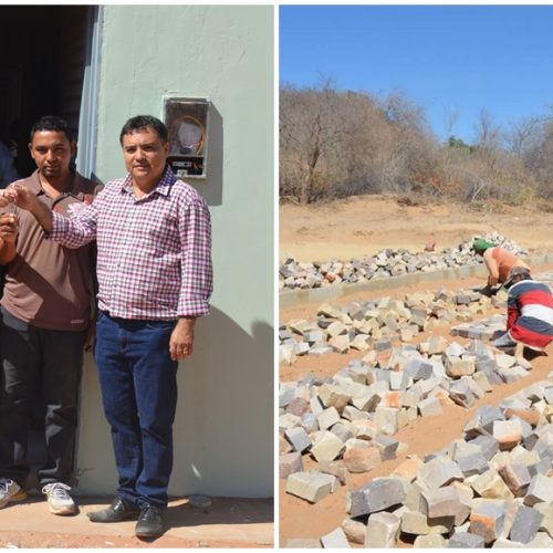 Prefeito Milton entrega 15 casas populares e visita obras de pavimentação em Vera Mendes