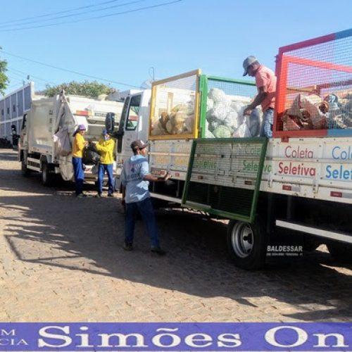 Prefeitura de Simões inicia coleta seletiva do lixo