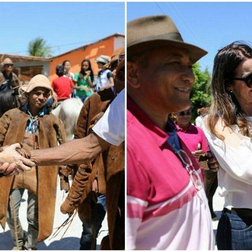 Vice-governadora participa da Festa do Vaqueiro no povoado Várzea Queimada, em Jaicós