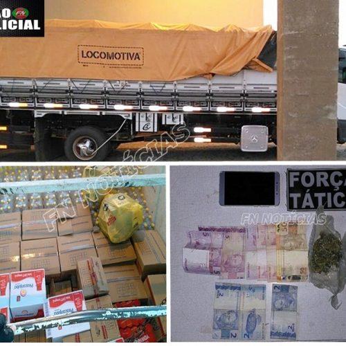 Força Tática de Paulistana apreende droga e mercadorias sem notas