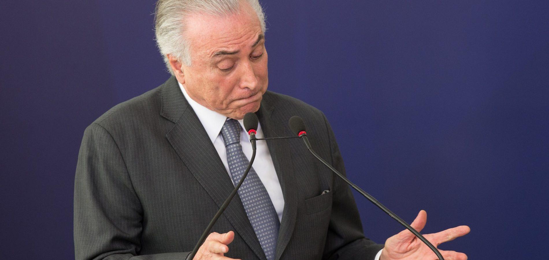 Michel Temer diz que tirou Brasil do vermelho em 2 anos de mandato