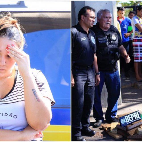 Polícia prende mulher com 100 Kg de droga dentro de ônibus no Piauí