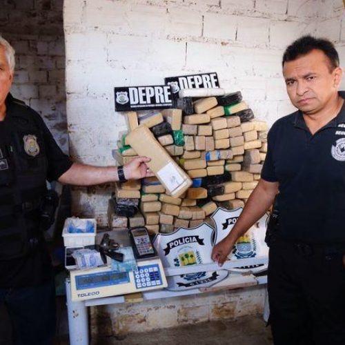 Polícia encontra depósito com mais de 200 kg de drogas no Piauí