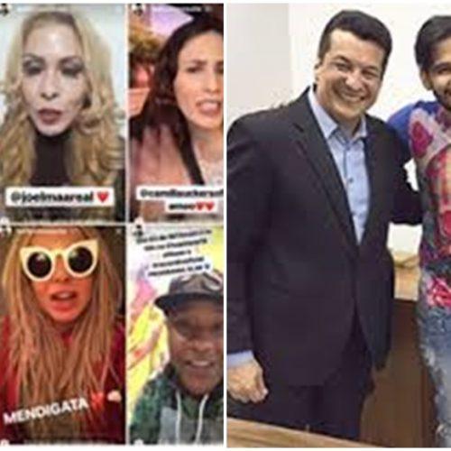 Famosos fazem chamada de estreia do picoense Laellyo Mesquita na TV Antena 10; veja
