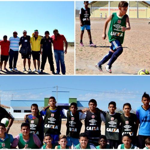 Em busca de promessas para o futuro, Vasco da Gama realiza 'peneira' com mais de 100 atletas em Alegrete do PI