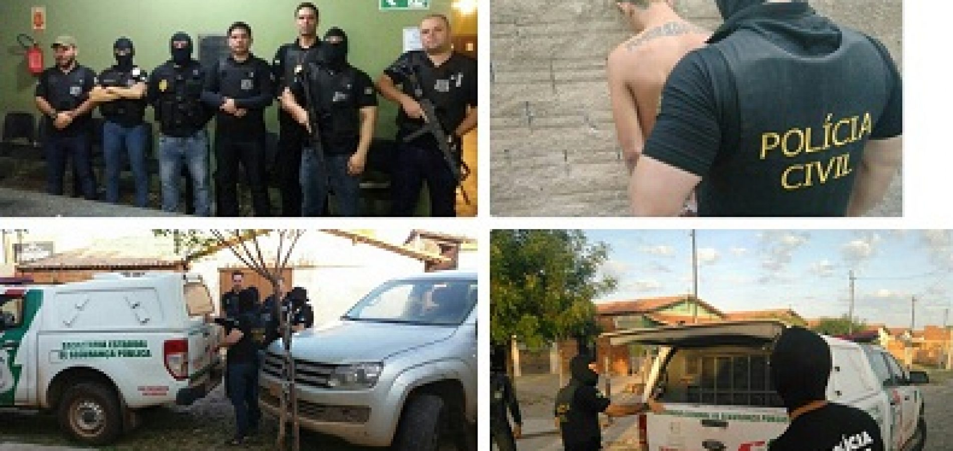 Polícia Civil desencadeia Operação Crates e prende duas pessoas