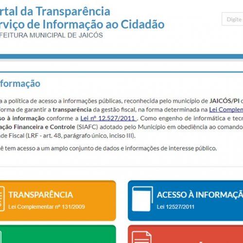 Jaicós cumpre a lei de acesso à informação e processo é arquivado pela Justiça Federal